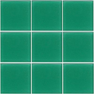 Glasmosaik Uni Dunkelgrun Glanzend 9 8 X 9 8 Cm Starke 8 Mm Uni