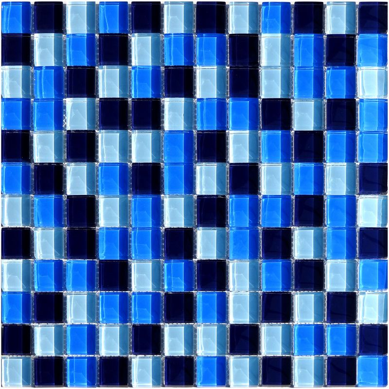 Glasmosaik Blau Mix 2,3 x 2,3 cm Fliesen Mosaik 8 mm